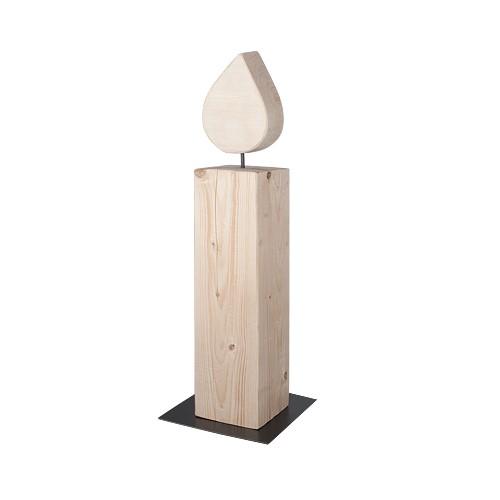 """XXL Kerze aus Massivholz """"65 cm"""""""