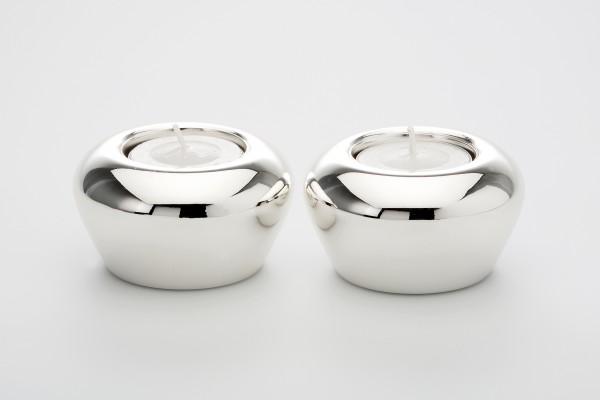 Teelichthalter SILVER 2er Set