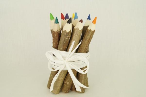 Buntstifte aus Holzzweigen 10er Set
